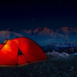 Nuit en bivouac dans les Alpes