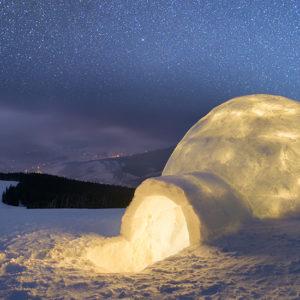 Nuit en Igloo dans les Alpes